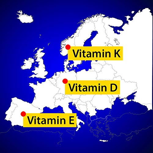 Dr Jacob's Vitamin D3 K2 Tropfen I Nahrungsergänzung für gesunde Knochen und Immunsystem I Hohe Bioverfügbarkeit I Vitamin D3 und K2 Öl vegetarisch I 20 ml