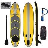 Swteeys SUP Board Stand up Paddling Surfboard 305 x 76 x 15cm aufblasbar Transportrucksack Paddle