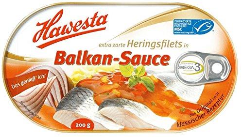 Hawesta - Heringsfilet in Balkan-Sauce - 200g/ 120g