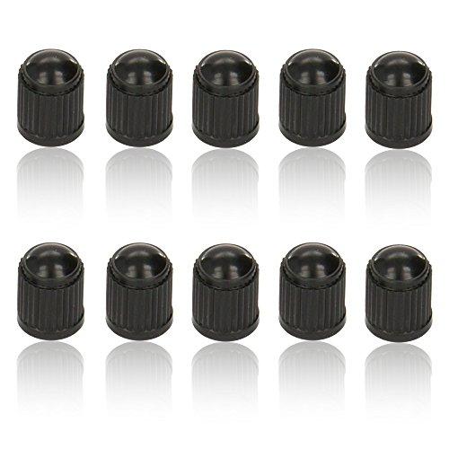 CDL Micro 10x Kunststoff-Reifen Ventil Staub Kappe/Cover–schwarz (Schrader Tube Valve)