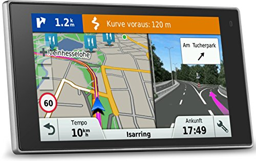 Garmin DriveLuxe 50 LMT EU PKW-Navi - 5'' Touch-Glasdisplay, lebenslange Kartenupdates, Verkehrsfunklizenz, Premium Design