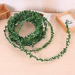 Hoja de simulacion,CHshe☀☀Hoja de hiedra artificial guirnaldas plantas vid falso follaje flores,decoración para el hogar 7.5 m,moderno y perfecto