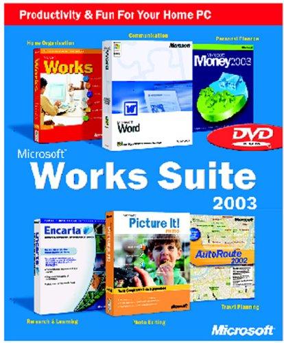 Works Suite 2003 DVD (Word, Money, AutoRoute, Encarta, Picture It, Works) [Import]