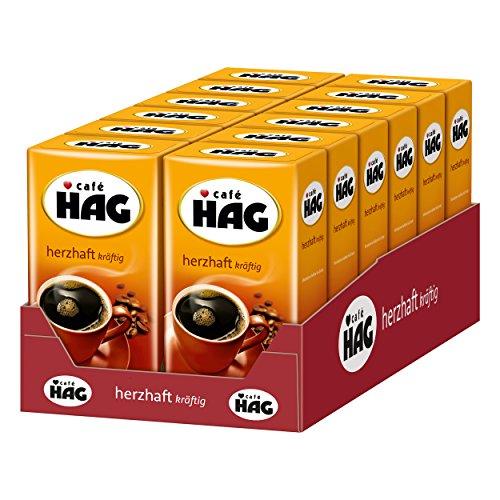 Caffè Hag Forte Robusto, Aroma Pieno, Senza Caffeina, per Filtro, 12 x 500g