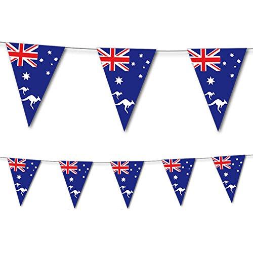 Preisvergleich Produktbild 3,5m Wimpelkette * AUSTRALIEN * als Deko für Geburtstag oder Party // Geburtstag Mottoparty Partybecher Becher Sommer Feier Länderparty Aussi