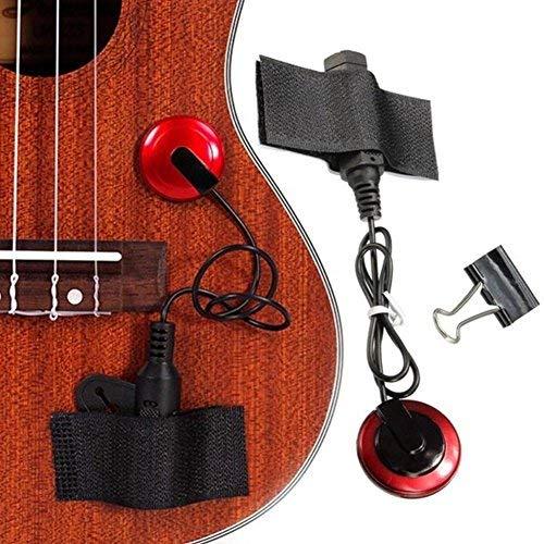 Piezo-Kontaktmikrofon-Tonabnehmer für Gitarre, Violine, Banjo, OUD, Ukulele, Mandoline, Cello und mehr, klarer und präziser Klang