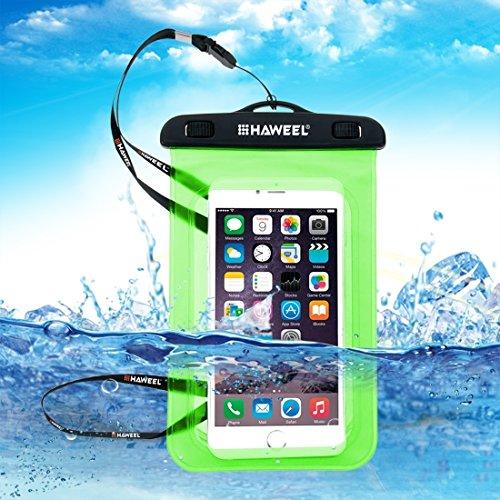 Wkae Case Cover haweel transparenten allgemeinen wasserdichte tasche mit kordel für das iphone 6 und 6 plus / 65 und 68 plus, samsung galaxy s6 / s5 / note 5 ( Color : Pink ) Green
