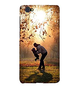 Takkloo man with his baby ( man and kid playing, beautiful garden, lovely view of noon, trees in the garden) Printed Designer Back Case Cover for Vivo X5Pro :: VivoX5Pro