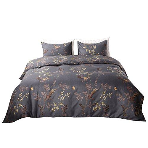 HIYOO Weiches Mikrofaser-Bettbezug-Sets, beinhaltet einen Bettbezug und einen Kissenbezüge, bequem und atmungsaktiv, helles und lebendiges Muster King Spring Imagination (King Bettbezug Helle)
