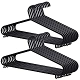 Fineway. 40 x Adult Plastic Hangers Clothes Cloth Plastic Coat Hangers  With Lips For Ladies Clothes Dress  Organise Adult Clothes Wardrobe Closet  Organiser Black (40 Adults Hangers)