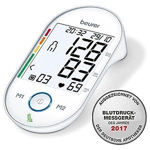 Beurer Oberarm-Blutdruckmessgerät BM 55 Beurer / digitaler Blutdruckmesser mit patentiertem Ruhe-Indikator & Arrhythmie-Erkennung / USB Schnittstelle & großes Display