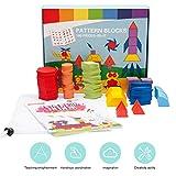 Houten puzzel, kinderen Geometrische vorm Puzzelspellen Educatief leren Brain Teaser Speelgoedcadeau voor kinderen vanaf 3 jaar oud(180 stuks)