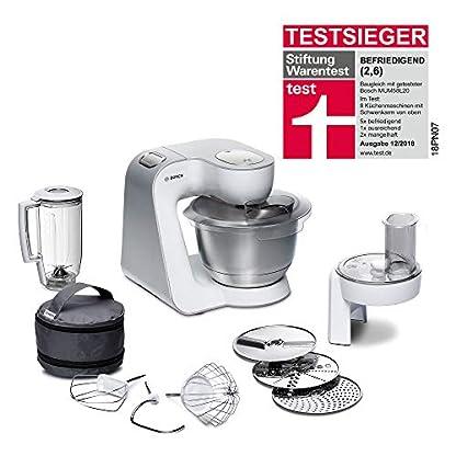 Bosch-MUM58W20-CreationLine-Kchenmaschine-Edelstahl-39-liters-Silber-Wei