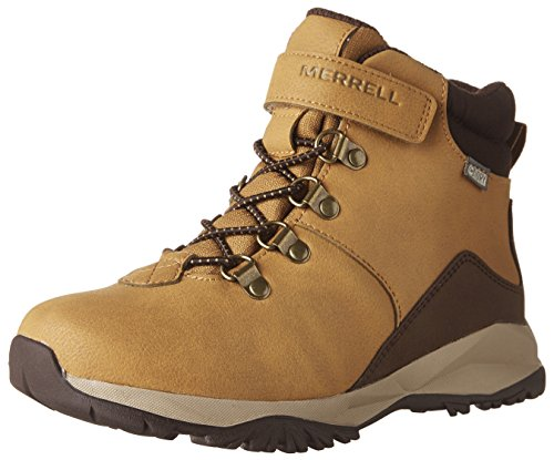 Merrell ML-b Alpine Casual Boot Waterproof, Chaussures de Randonnée Hautes - Garçon - Orange (Wheat) - 33 EU (1 UK)