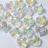 Always Knitting And Sewing 5 x irridescent valentines love heart buttons size 18 (12mm)