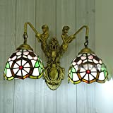 Bar Mediterráneo europeo al estilo de espejo de luces delanteras pared de la sirena de la lámpara de pared lámpara de cabecera del dormitorio pasillo jardín infantil