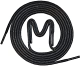 3 Paar - gewachste Business Schnürsenkel für Anzugschuhe, Rundsenkel in hoher Qualität aus 100% Baumwolle – Ø 2,5mm, Farben: schwarz, braun, dunkelbraun, grau und dunkelblau