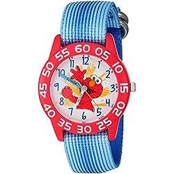 eWatchFactory Boy's 'Sesame Street' Quartz Plastic and Nylon Automatic Watch, Color:Blue (Model: W003200)