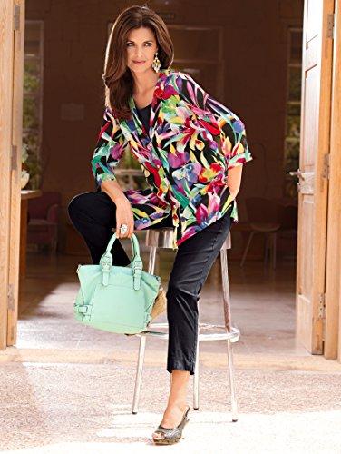 Damen Knöchelhose mit Baumwolle Basic by MONA Schwarz