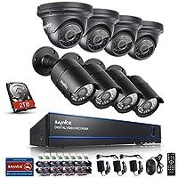 SANNCE KIT AHD DVR 8 Canali 1080P Video Sorveglianza Videoregistratore IR Telecamere di Sicurezza Impermeabile IP66 Sistema di CCTV Kit di Sorveglianza 4 Bullet Camera 4 Dom Camera 3,6MM con 2T HDD