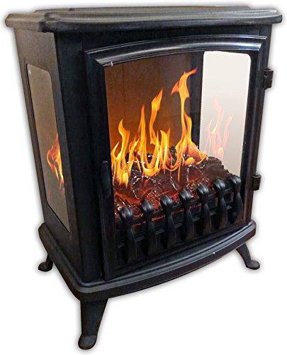 Chemin 'Arte 1393D Fire Glass Elektrischer Kamin, schwarz