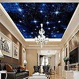 DACHENZI Große Nahtlose Mosaik Decke Zenith Mural Tapete 3D Stereo Starry Sky Landschaft Wandmalerei Wohnzimmer Wohnkultur