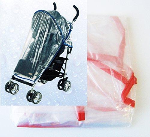 Preisvergleich Produktbild Buggy REGENSCHUTZ 135x76cm universal Rot Regenverdeck Kinderwagen Regenhülle 7