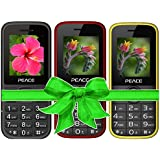 Combo Of 3 Mobiles(P1 Black+P3 Red Black+Yellow) With 1 Year Warranty