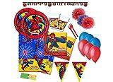 DECORATA PARTY kit n 54 Coordinato tavola compleanno Spiderman Uomo Ragno addobbi