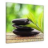 Bilderdepot24 Kunstdruck - Zen Steine V - Bild auf Leinwand - 40x40 cm - Leinwandbilder - Bilder als Leinwanddruck - Wandbild Geist & Seele - Asien - Wellness