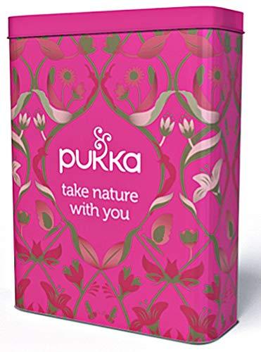 Pukka Travel Sachet Tin - Ideal for Storing Tea Bags Sachets Envelopes - Set of 3 Empty Tins