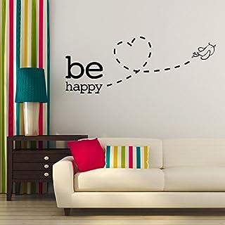 Adesiviamo Be Happy Bird Fly Love Wall Sticker Wallstickers