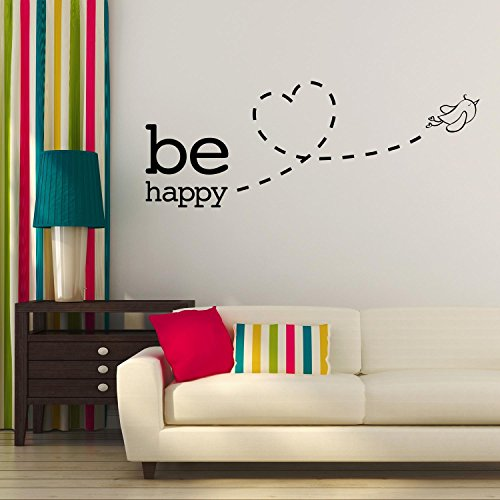 Newsbenessere.com 51JN8AvOsmL Adesiviamo® Be Happy Bird Fly Love Wall Sticker Adesivo da Muro