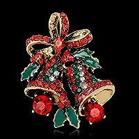 Azalea Weihnachtsglocke Brosche Brühe