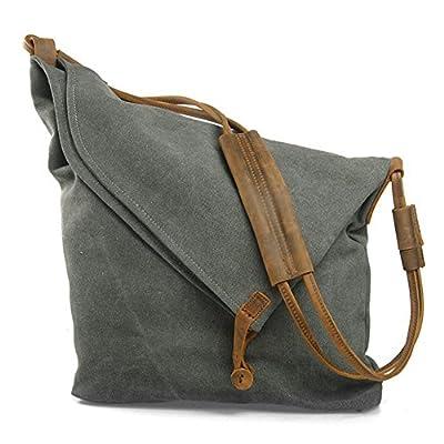 Women's Hobobag, P.KU.VDSL Canvas Slouch bag large Totes Shoulder Handbag for Shopper Beach School