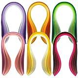 dokpav Papier Quilling Streifen Set,Papier Quilling Set mit 30 Farben Quilling Papers und 600 Streifen Multicolor 39cm Länge / 3mm Breite Availab