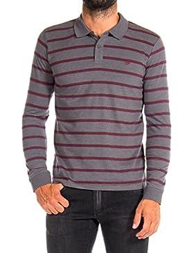 Carrera Jeans - Camiseta Tipo Polo 822R0045A para hombre, de rayas, ajuste regular, manga larga