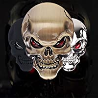 EQLEF® Lega 3D Teschio di zinco Auto Moto Sticker Skull distintivo dell'emblema Car Styling Stickers