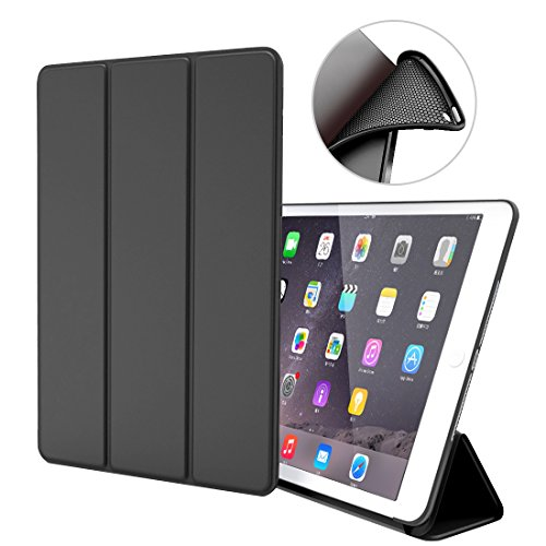 Custodia per iPad Air 1,Goojodoq Smart Cover con funzione Auto Sleep/Wake Magnetico PU Antiurto in Silicone Morbido TPU Custodia a Libro per Apple iPad Air 1 Nero
