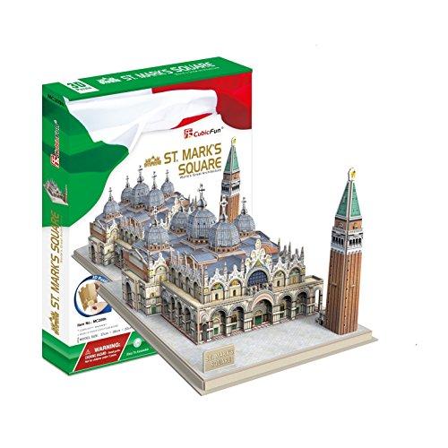 Preisvergleich Produktbild 3D Puzzle Markusdom Markusplatz Venedig Italien Cubic Fun