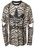 adidas Originals Jeremy Scott JS Slash del trébol de los Hombres de Tigre-Camisa de Manga Larga...