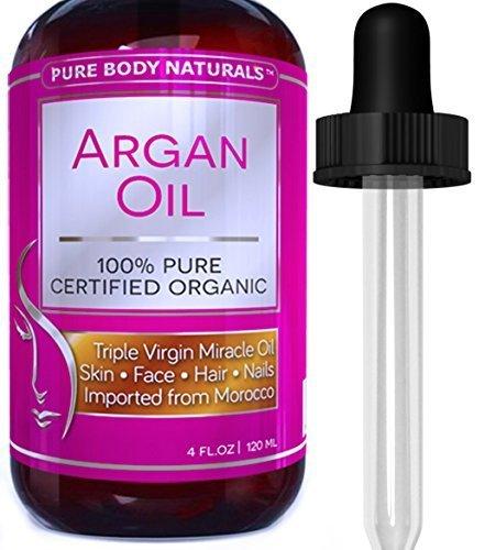Pure Body Naturals - Huile d'Argan Biologique Pour le Corps, le Visage, les Cheveux & les Ongles, 120mL