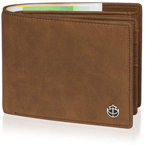 eldbörse Männer - 12 Kartenfächer TÜV geprüfter RFID Schutz - Großes Münzfach - Geldbörse groß in braun mit Edler Geschenkbox - Koala ()