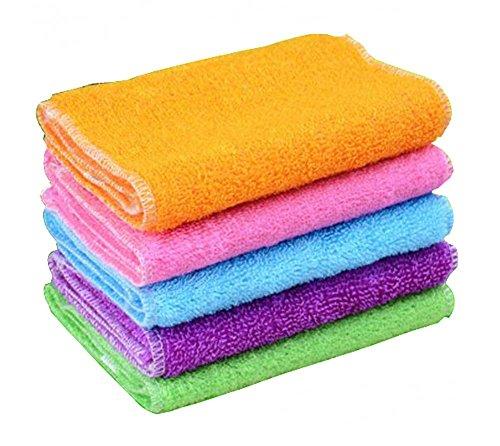 Set di 10 strofinacci colorati per la pulizia assorbenti e stracci per piatti anti-olio