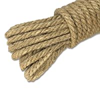 jijAcraft Jute Twine Rope 5mm,20M Thick Rope Jute String Strong Hemp Rope Cord Garden Rope for DIY Arts Crafts(3-Ply)