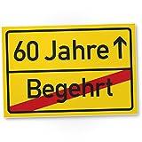 DankeDir! 60 Jahre (Begehrt) Kunststoff Schild - Ortssschild, Geschenk 60. Geburtstag Bester Freund/Freundin, Geschenkidee Geburtstagsgeschenk 60ten Geschenk 60er Geburtstagsparty