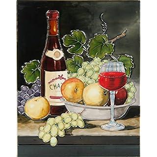 YH-Arts 11x14 Fruit and Wine 1, Multicolour, 35x28x1 cm