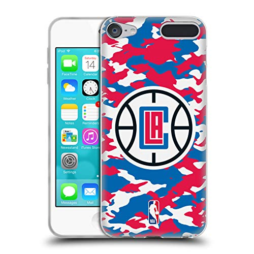 Head Case Designs Offizielle NBA Camouflage 2018/19 Los Angeles Clippers Soft Gel Hülle für Apple iPod Touch 6G 6th Gen