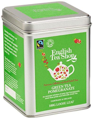 English Tea Shop – Grüner Tee Granatapfel, BIO Fairtrade, Loser Tee, 100g Dose