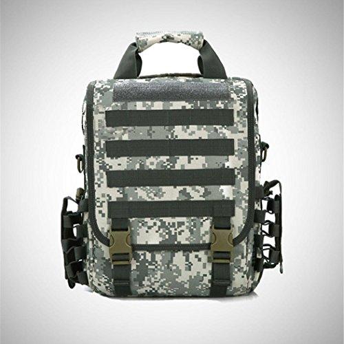 Camouflage wasserdichte Computer Rucksack 14-Inch Outdoor Wandern Camping Rucksack Portable Messenger Bag Multifunktions Handtasche ACU